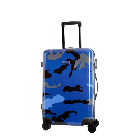 Platinium Blue Marshall 8 Wheeled Suitcase 50cm