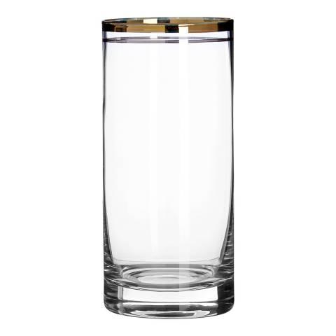 Premier Housewares Set of 4 Gold Charleston Highball Glasses