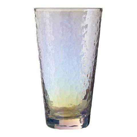 Premier Housewares Aurora Hi Ball Glasses, Set of 4 / 445ml, Hammered / Iridescent Lustre
