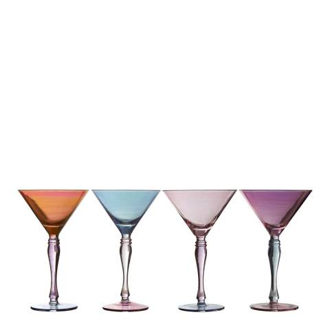 Premier Housewares Set of 4  Aurora Cocktail Glasses, 240ml
