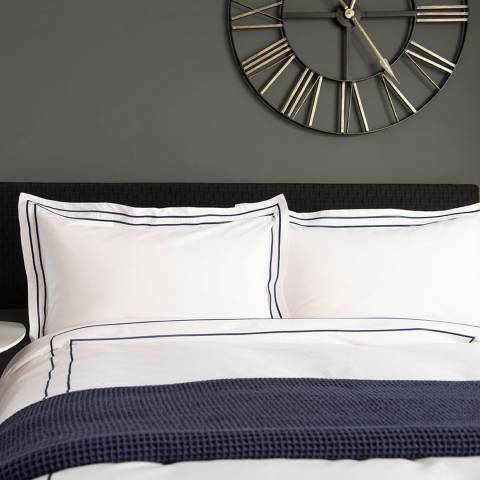 The Lyndon Company Montpellier Double Duvet Cover Set, Navy