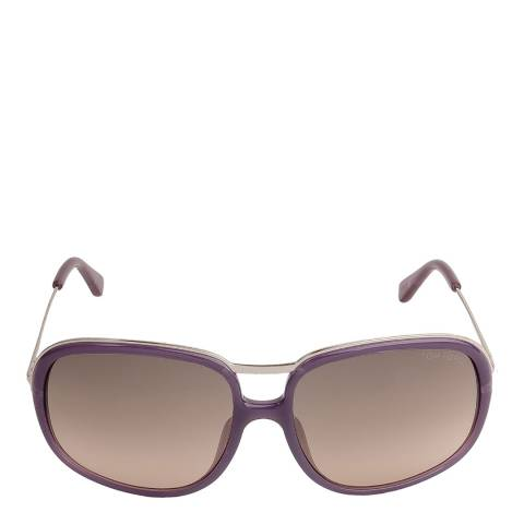 Tom Ford Women's Transparent Lilac Sunglasses 61mm