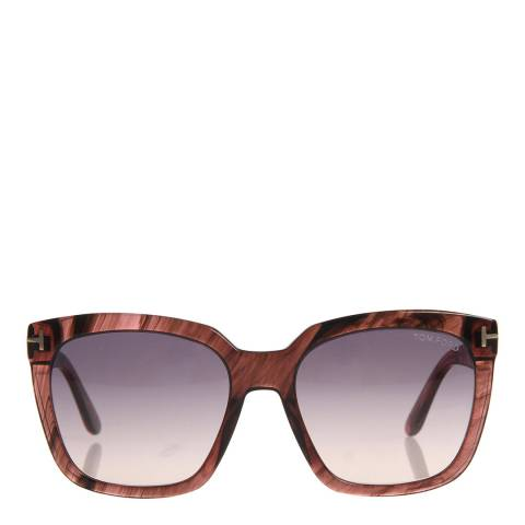 Tom Ford Women's Pink Pattern/Grey Lens 55mm