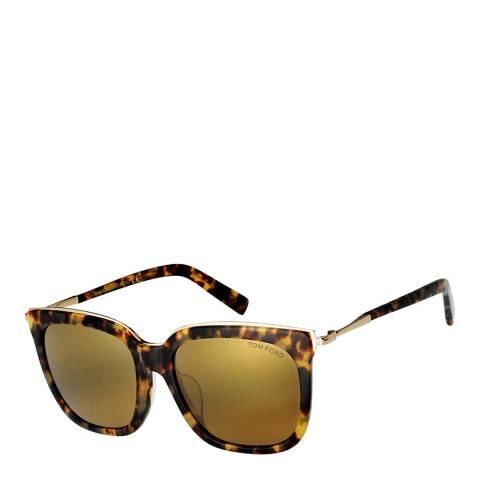 Tom Ford Women's Brown / Gold Havana Tom Ford Sunglasses 56mm