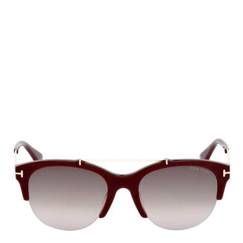 Tom Ford Women's Burgundy Gold Tom Ford Sunglasses 55mm