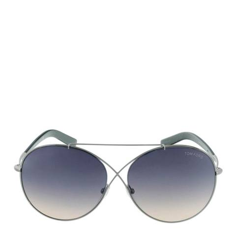 Tom Ford Women's Silver Metal Sunglasses 62mm