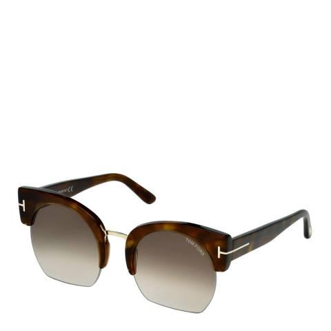 Tom Ford Women's Brown Havana Tom Ford Sunglasses 55mm