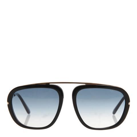 Tom Ford Men's Black Gold/Blue Tom Ford Sunglasses 57mm