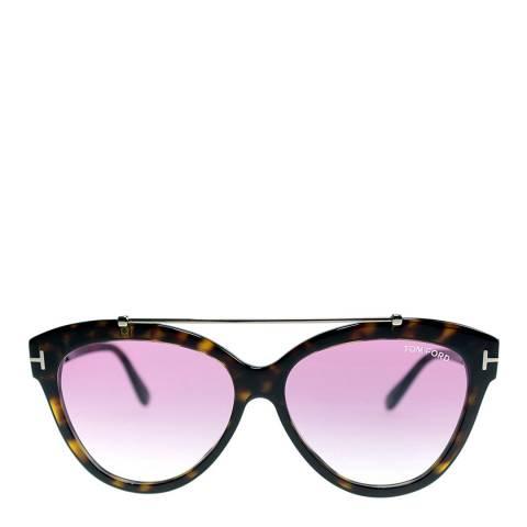 Tom Ford Women's Dark Brown Sunglasses 58mm