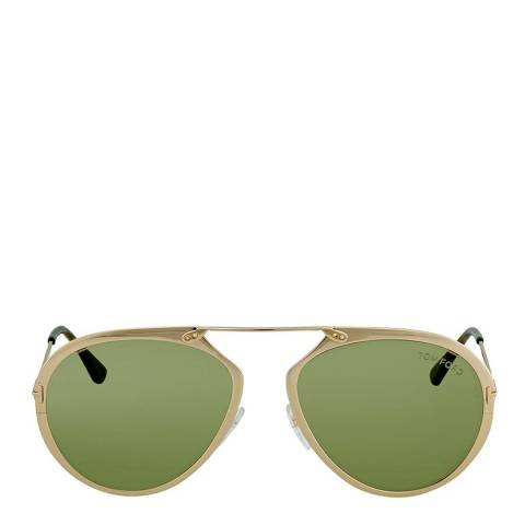 Tom Ford Women's Rose Gold / Green Sunglasses 55mm