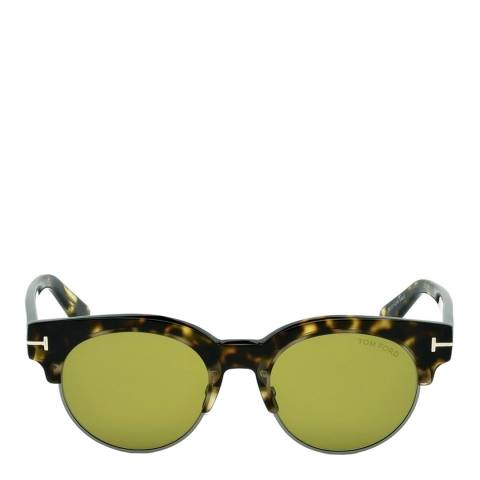 Tom Ford Women's Blonde Brown / Green Sunglasses 50mm