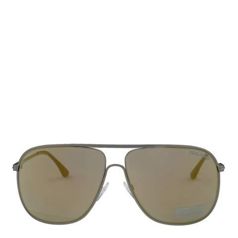 Tom Ford Men's Matte Gunmetal / Grey Gold Mirror Dominic Sunglasses 58mm
