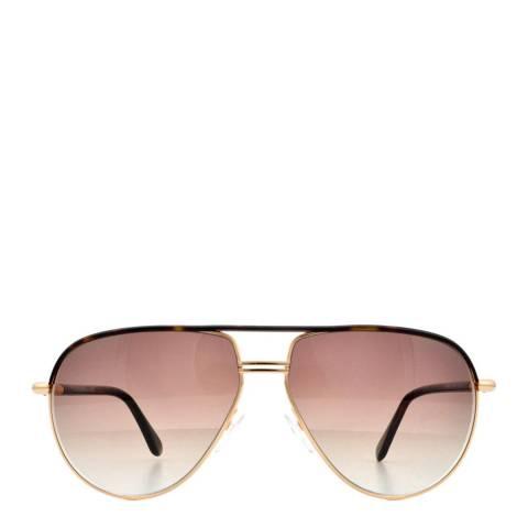 Tom Ford Men's Gold Brown / Dark Brown Cole Sunglasses 58mm