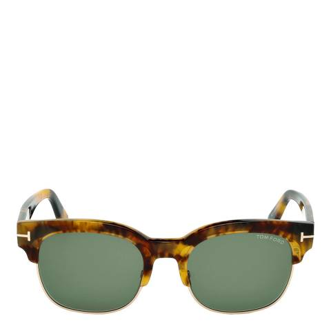 Tom Ford Men's Harry Blonde Havana / Green Harry Tom Sunglasses 53mm