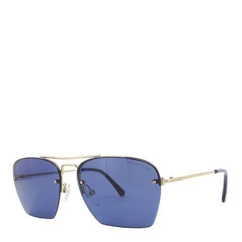 Tom Ford Men's Shiny Rose Gold / Blue Walker Tom Ford Sunglasses 57mm