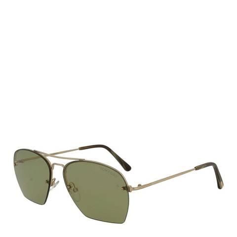 Tom Ford Men's Shiny Rose Whelen Tm Ford Sunglasses 58mm