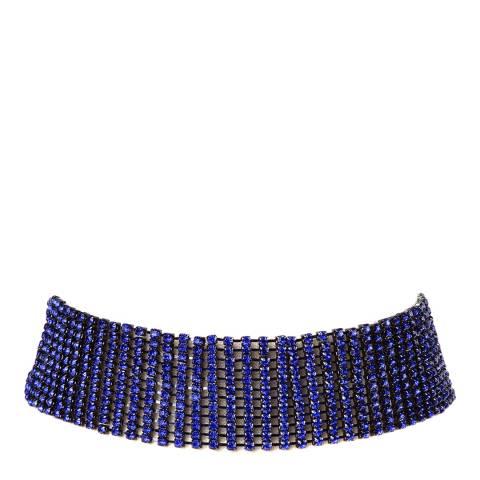 Amrita Singh Gunmetal-Tone Brass Choker Embellished With Crystals