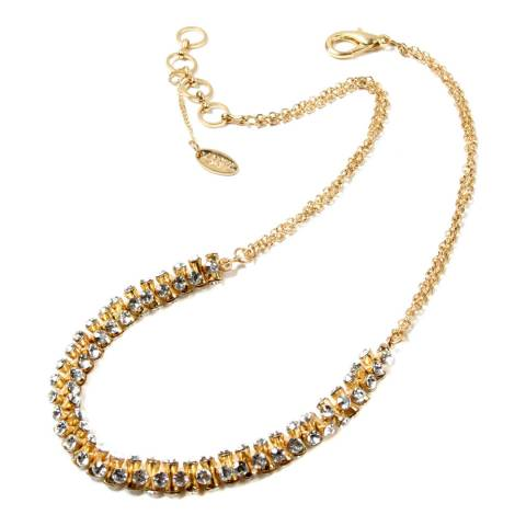 Amrita Singh Gold Brass Necklace With Austrian Crystals
