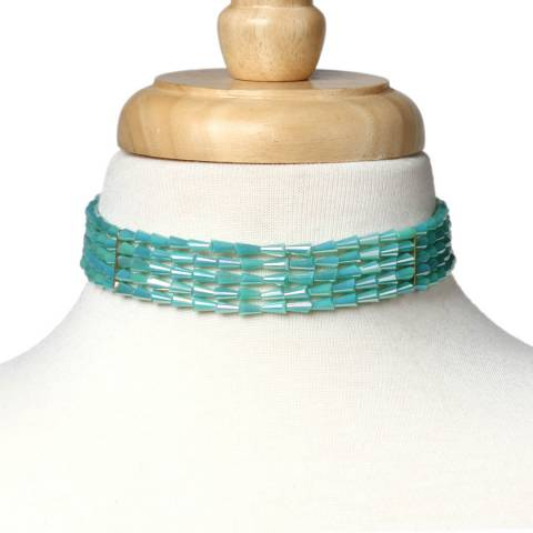 Amrita Singh Multi-Strand Choker With Glass Beads