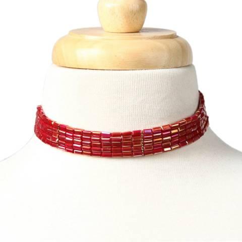 Amrita Singh Multi-Strand Choker With Glass Beads