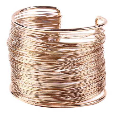 Amrita Singh Rose-Tone Brass Cuff Bracelet