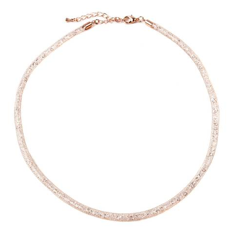 Amrita Singh Rose-Tone Brass Metal Mesh Chain Filled With Austrian Crystals