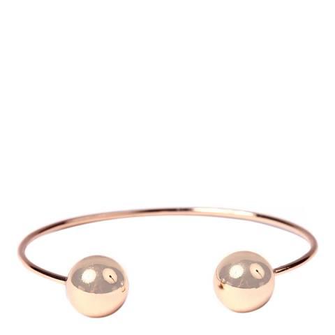 Amrita Singh Rose-Tone Brass Ball Cuff Bracelet