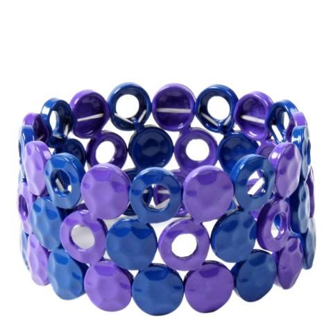 Amrita Singh Gold-Tone Brass/Color Block Circle Bracelet