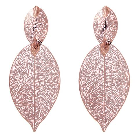 Amrita Singh 2-Tier Leaf Drop Earrings With Laser-Cut Design