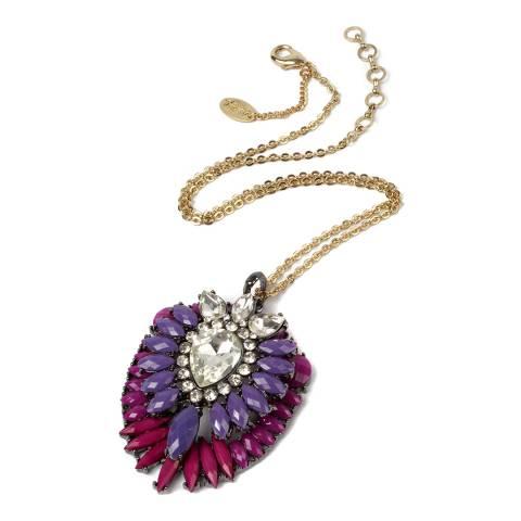Amrita Singh Purple Crystal Necklace