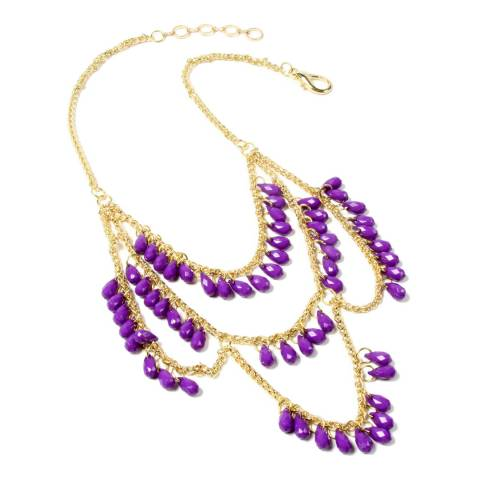 Amrita Singh Purple Bead Necklace