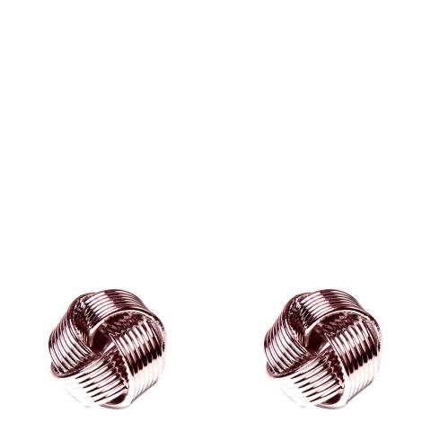 Amrita Singh Rose-Tone Brass Mini Knot Studs. Rose-Tone Brass