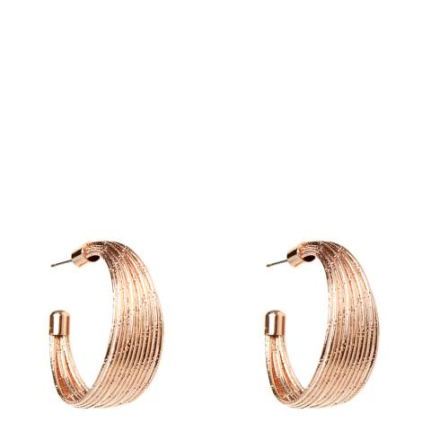 Amrita Singh Rose-Tone Brass Hoop Earrings