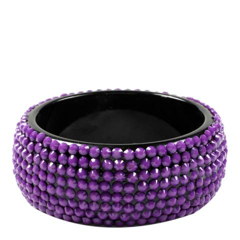 Amrita Singh Purple Crystal Bangle