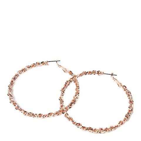 Amrita Singh Brass Hoop Earrings With Twisted Design