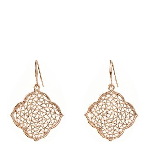 Amrita Singh Rose-Tone Brass Earrings