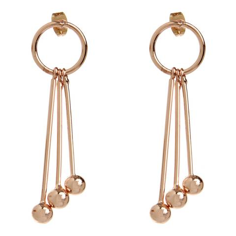 Amrita Singh Rose-Tone Brass Statement Earrings