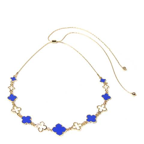 Amrita Singh Gold-Tone Brass Clover Collar With Enamel Accents