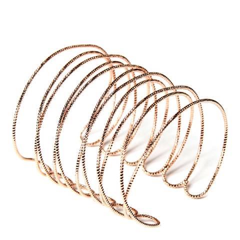 Amrita Singh Rose-Tone Brass Delicate Open Design Cuff