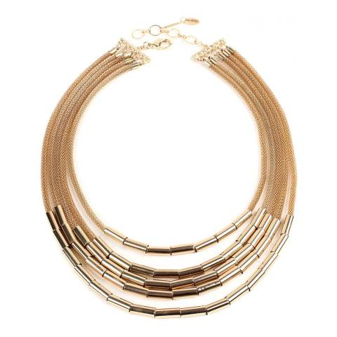 Amrita Singh Gold-Tone Brass 5-Layered Necklace