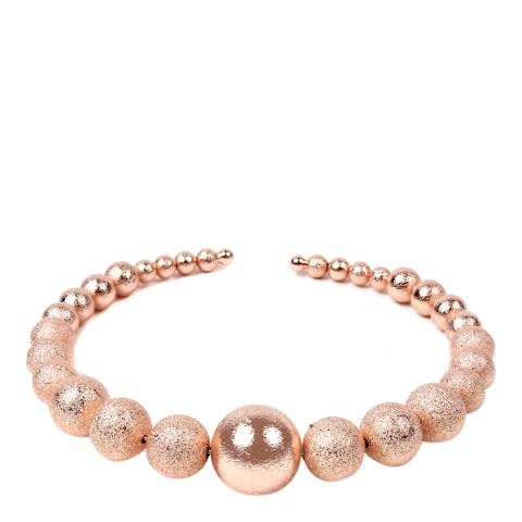 Amrita Singh Rose-Tone Brass Ball Collar
