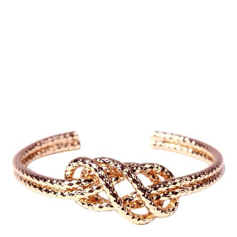 Amrita Singh Rose-Tone Brass Double Knotted Cuff