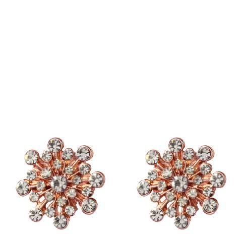 Amrita Singh Flower Stud Earrings With Austrian Crystals