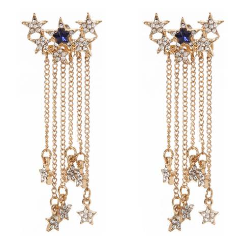 Amrita Singh Gold-Tone Brass Ear Jackets With Austrian Crystals And Star Charms