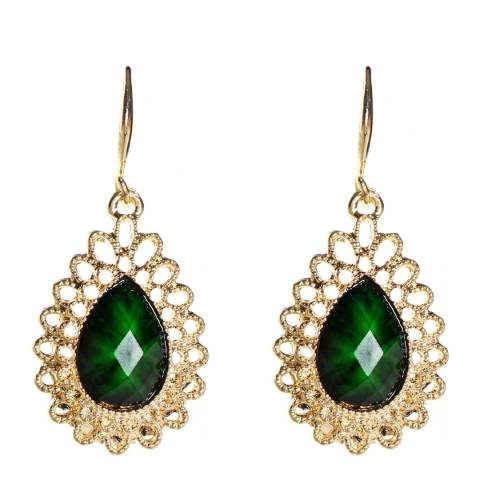 Amrita Singh Gold-Tone Brass Earrings With Resin Stones.