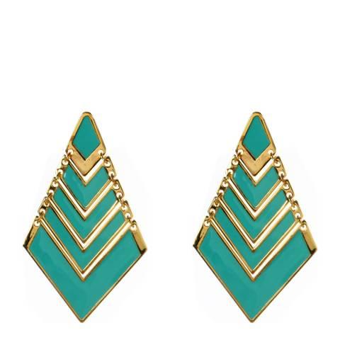 Amrita Singh Layered Diamond Shaped Enamel Earring