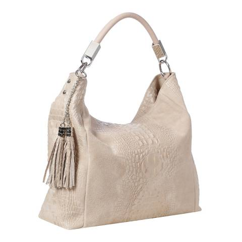 Marco Chiarini Light Pink Leather Hobo Bag