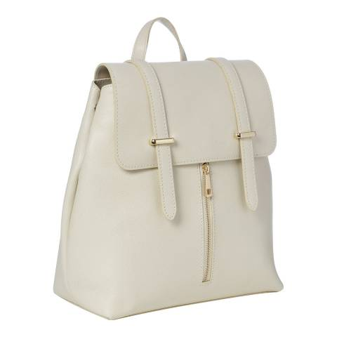 Marco Chiarini Beige Leather Backpack