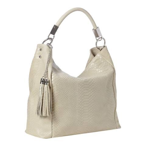 Marco Chiarini Beige Leather Shoulder Bag