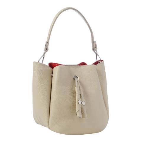 Giorgio Costa Beige Leather Top Handle Bag